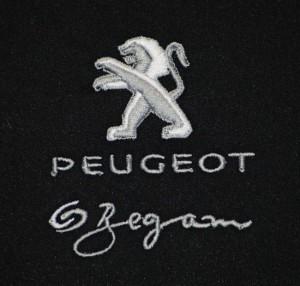 Strojová výšivka Peugeot